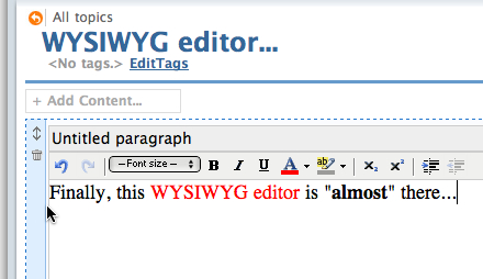 The long-waiting WYSIWYG editor in Pagico