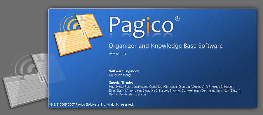 Pagico v2.3 is provided FREE for these hidden heros