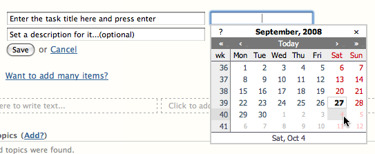 Improved Popup Calendar in upcoming Pagico 3.2