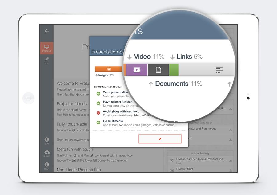 Presentation Stat with iPad Mini