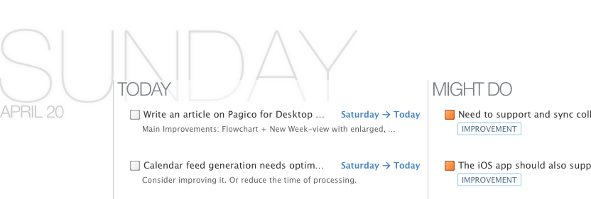 The Much Improved Daily Planning Section