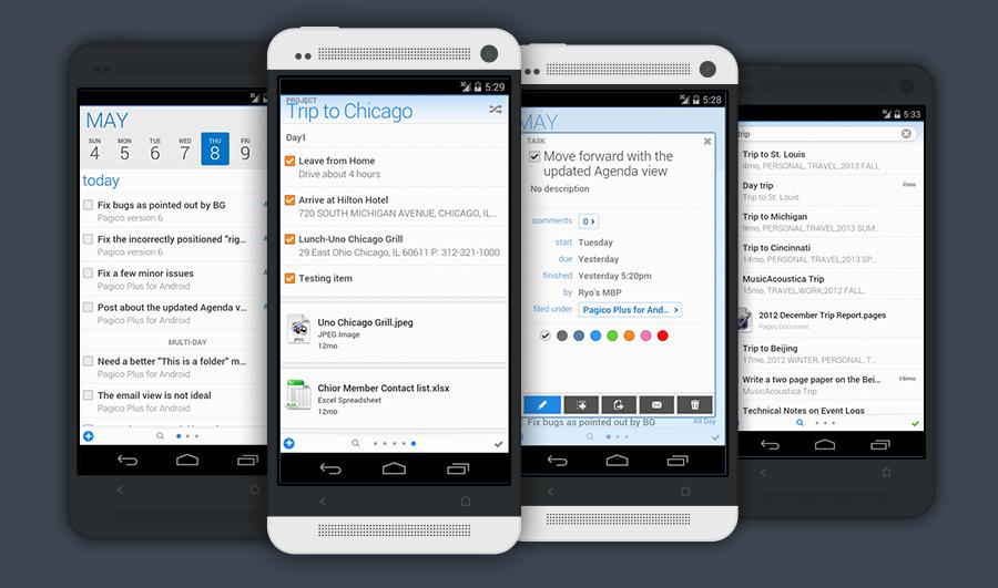 Pagico Plus Android Sneak Peak_Blog