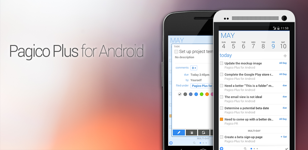 Pagico Plus for Android