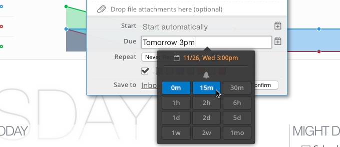 Flexible Reminder Options