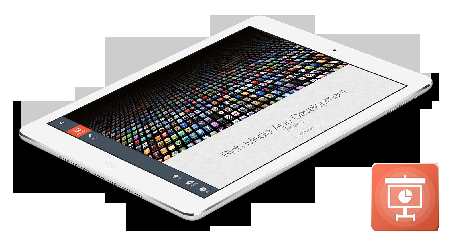 Presentics 2.0 is presentation app born for the iPad
