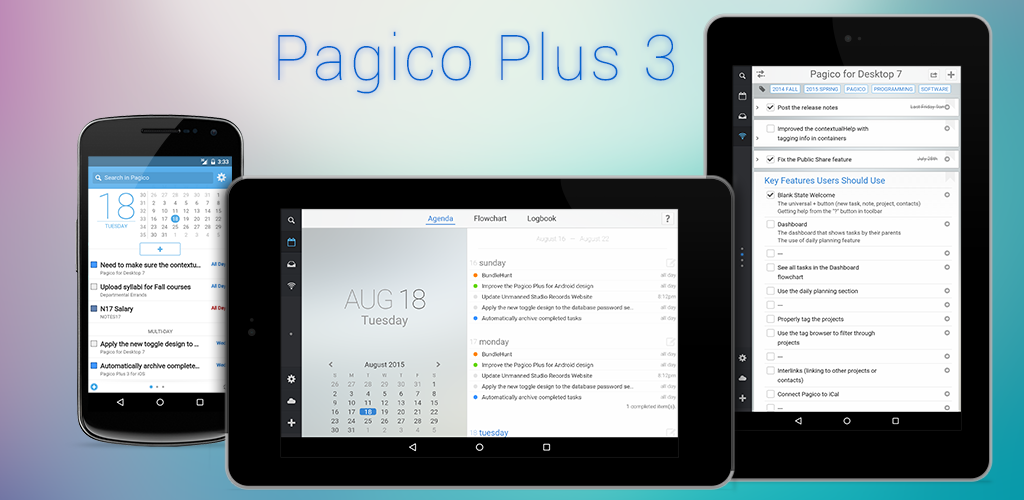 Pagico Plus 3 for Android