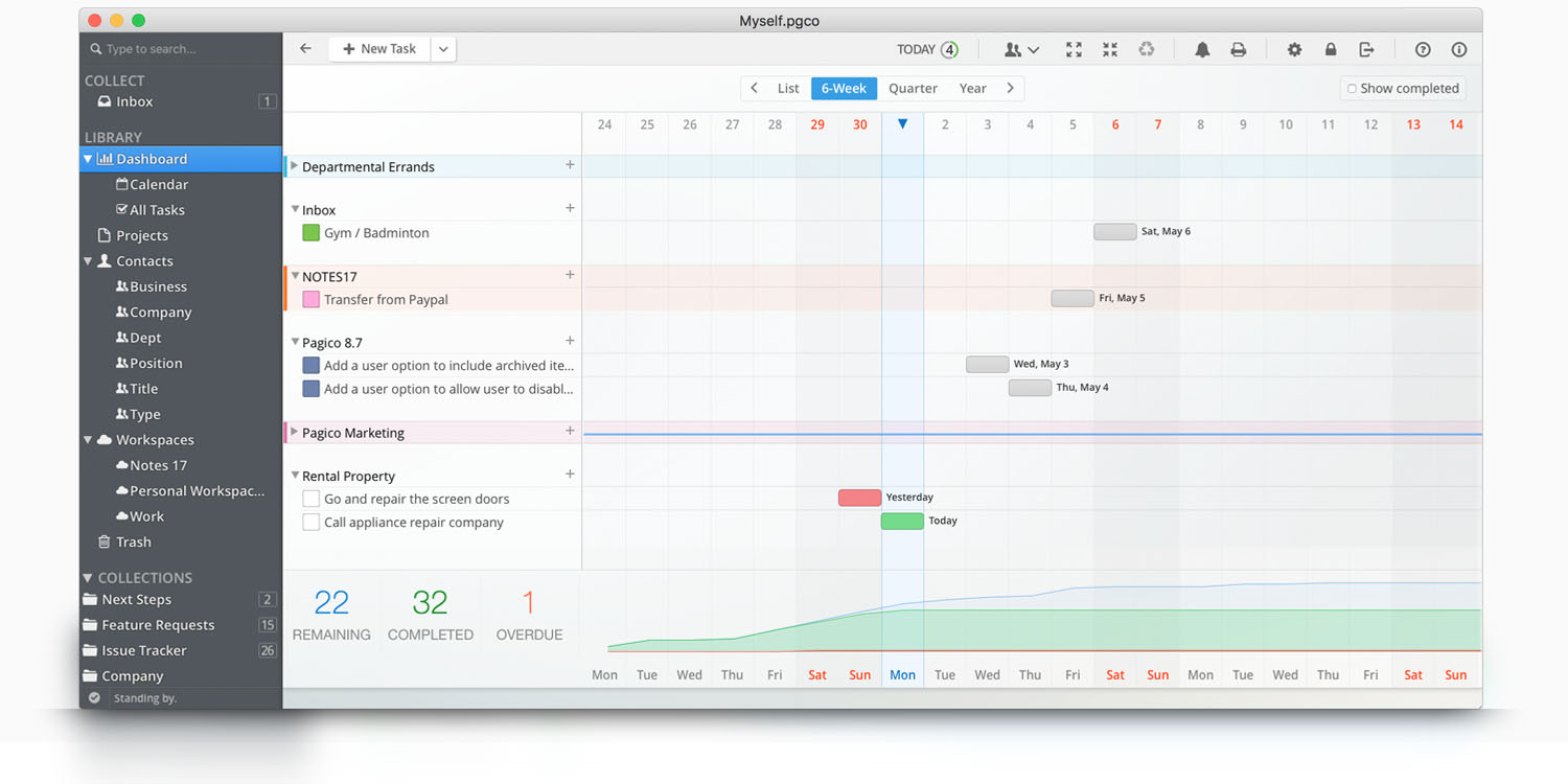 Pagico - Manage all your projects and clients in one app. For Mac ...