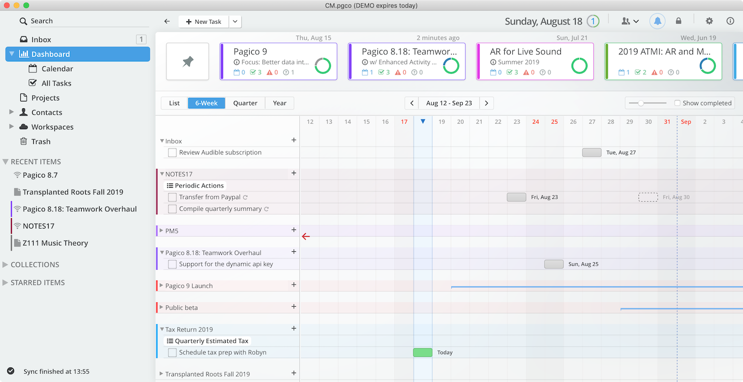 Pagico 9: Stay organized, maintain your focus and productivity